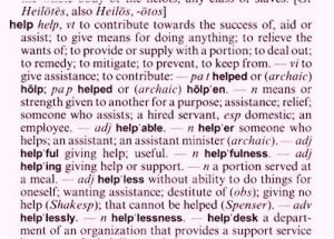 Dictionary definition of help